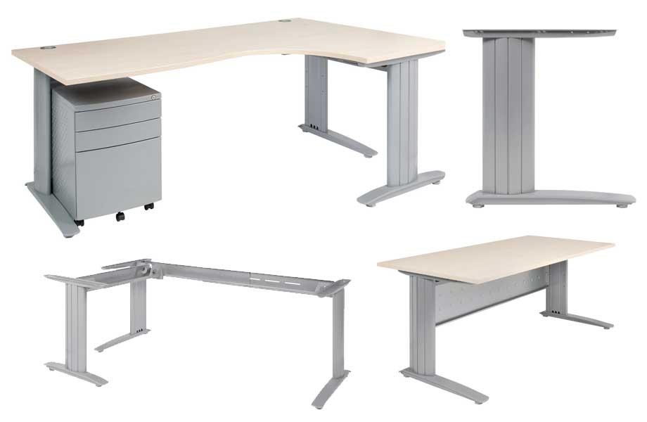 C Style Corner Desk Frame Sydney Leg